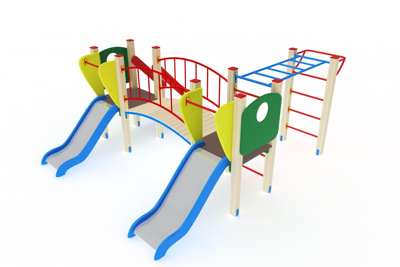 ДИК 01-004 Детский игровой комплекс «Карапуз» H=750 Image