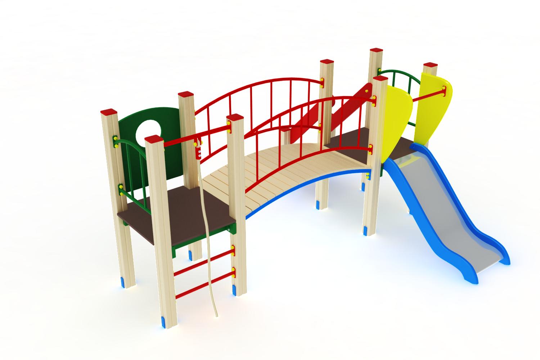 ДИК 01-003 Детский игровой комплекс «Карапуз» H=750 Image