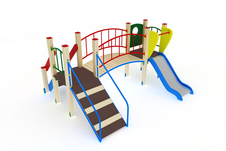 ДИК 01-006 Детский игровой комплекс «Карапуз» H=750 Image