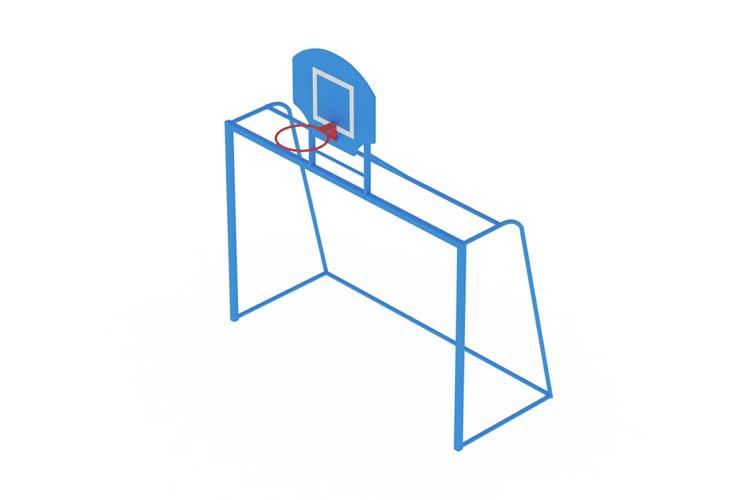 СО 07-603 Ворота с баскетбольным щитом Image